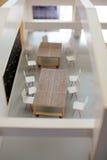 Het model van de bouw van een bureau Stock Foto