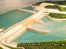 Het model van de dam Stock Afbeeldingen