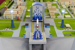 Het model van de Spaceportschaal Stock Fotografie