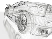 Het model van de sportwagen Royalty-vrije Stock Afbeeldingen
