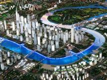Het Model van de stad Stock Afbeeldingen