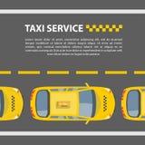 Het model van de taxidienst vector illustratie