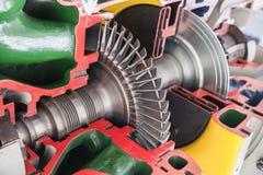 Het model van de turbinestructuur royalty-vrije stock afbeeldingen
