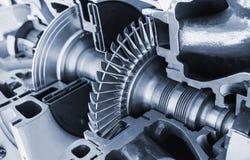 Het model van de turbinestructuur met dwarsdoorsnede royalty-vrije stock foto
