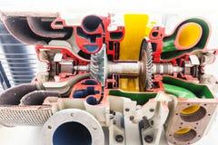 Het model van de turbinestructuur met gesneden segmenten stock foto's