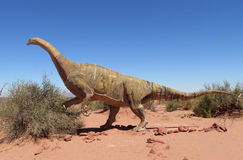 Het model van een dinosaurus stock afbeeldingen