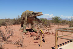 Het model van een dinosaurus in het park royalty-vrije stock foto