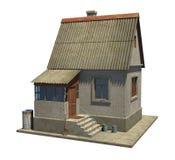 Het model van een klein buitenhuis in Rusland Stock Afbeelding