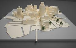 Het model van het architectenplan Stock Foto's