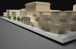 Het model van het architectenplan Stock Foto