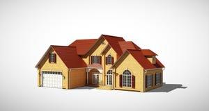 Het model van het plattelandshuisje Stock Foto's