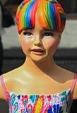het model van het rolgordijnmeisje Stock Afbeeldingen