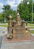 Het model van Kerk van de Verlosser op Bloed in St. Petersburg royalty-vrije stock afbeelding