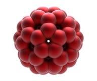 Het model van molecule fulleren Royalty-vrije Stock Afbeeldingen