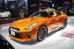 Het model 2019 van Nissan GTR stock foto's