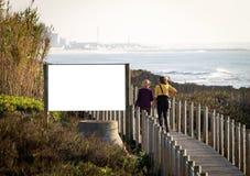 Het Model van het reclameaanplakbord royalty-vrije stock foto