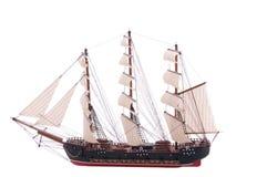 Het model van Sailship op wit stock afbeelding