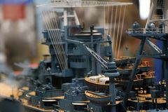 Het Model van USS Arizona Stock Afbeeldingen