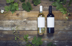 Het model van wijnflessen Royalty-vrije Stock Afbeelding