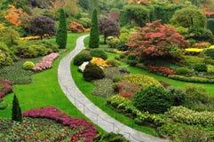 Het modelleren van tuinen Stock Foto
