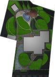 Het modellerende algemene 3D plan, geeft terug Stock Foto's