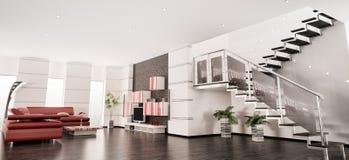 Het moderne 3d flat binnenlandse panorama geeft terug royalty-vrije illustratie
