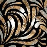 Het moderne abstracte naadloze patroon van Paisley royalty-vrije illustratie