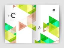 Het moderne bedrijfsbrochure of malplaatje van de pamfleta4 dekking stock illustratie