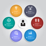 Het moderne bedrijfsontwerpmalplaatje/kan voor infographics/bedrijfsbanners/grafische of websitelay-out worden gebruikt Royalty-vrije Stock Afbeelding