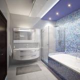Het moderne binnenland van de Badkamers Stock Afbeelding