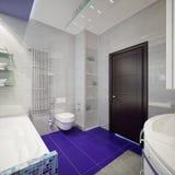 Het moderne binnenland van de Badkamers Stock Fotografie