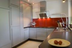 Het moderne Binnenland van de Keuken Stock Foto's