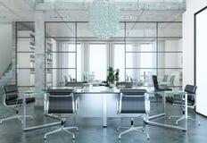 Het moderne binnenlandse ontwerp van de conferentieruimte het 3d teruggeven Stock Fotografie