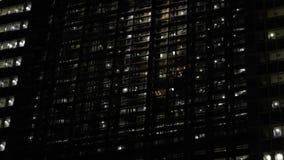 Het moderne bureauwolkenkrabber de lift van de de bouwlift bewegen zich stock videobeelden