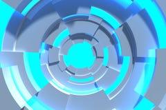 Het moderne cirkel 3D teruggeven royalty-vrije illustratie