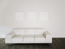 Het moderne comfortabele binnenlandse 3d teruggeven Stock Fotografie