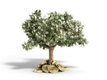 Het moderne concept winst van het investeren in 3d bitcoin geeft terug Stock Foto's