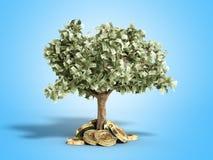 Het moderne concept winst van het investeren in 3d bitcoin geeft terug Stock Foto