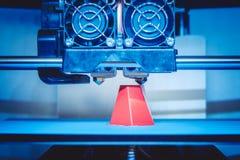 Het moderne 3D close-up van de printerdruk Stock Afbeelding