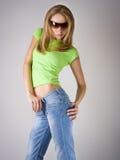 Het moderne danser stellen Stock Foto