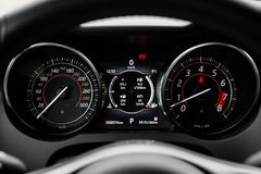 Het moderne dashboard van de stijlauto Stock Afbeeldingen