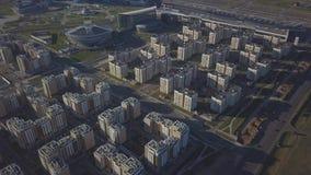 Het moderne district van Astana stock video