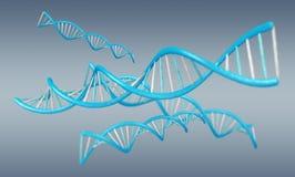 Het moderne DNA-structuur 3D teruggeven Royalty-vrije Stock Foto's