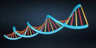 Het moderne DNA-structuur 3D teruggeven Stock Foto's