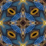 Het moderne Grieks geometrisch vaag radiaal motie naadloos patroon T vector illustratie