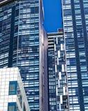 Het moderne Hoge Abstracte Patroon van Stijgingsgebouwen Stock Fotografie