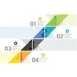 Het moderne infographic malplaatje van de Ontwerp minimale stijl Stock Foto