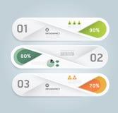 Het moderne infographic malplaatje van de Ontwerp Minimale stijl met alfabet Royalty-vrije Stock Foto