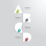 Het moderne infographic malplaatje van de Ontwerp Minimale stijl met alfabet Stock Foto's