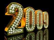 Het moderne jaar van 2009 stock illustratie